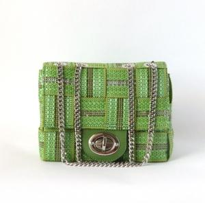 プラチナム  Blizzard Double-chain shoulderbag Verde