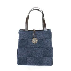 アルマトヌッティ Wool Felt Bag With Button Blu